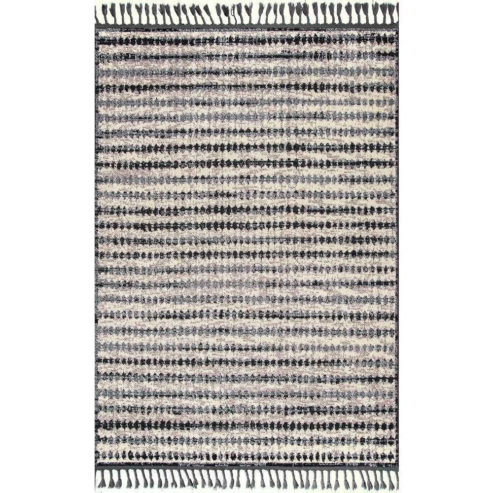 nuLOOM Sophia Contemporary Beige Multi 4 ft. x 6 ft.  Area Rug