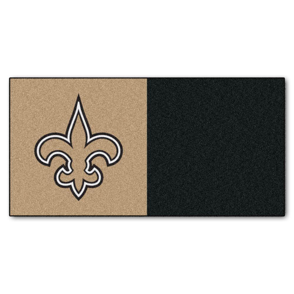 NFL New Orleans Saints 18 in. x 18 in. Carpet Tile (20 Tiles / Case)