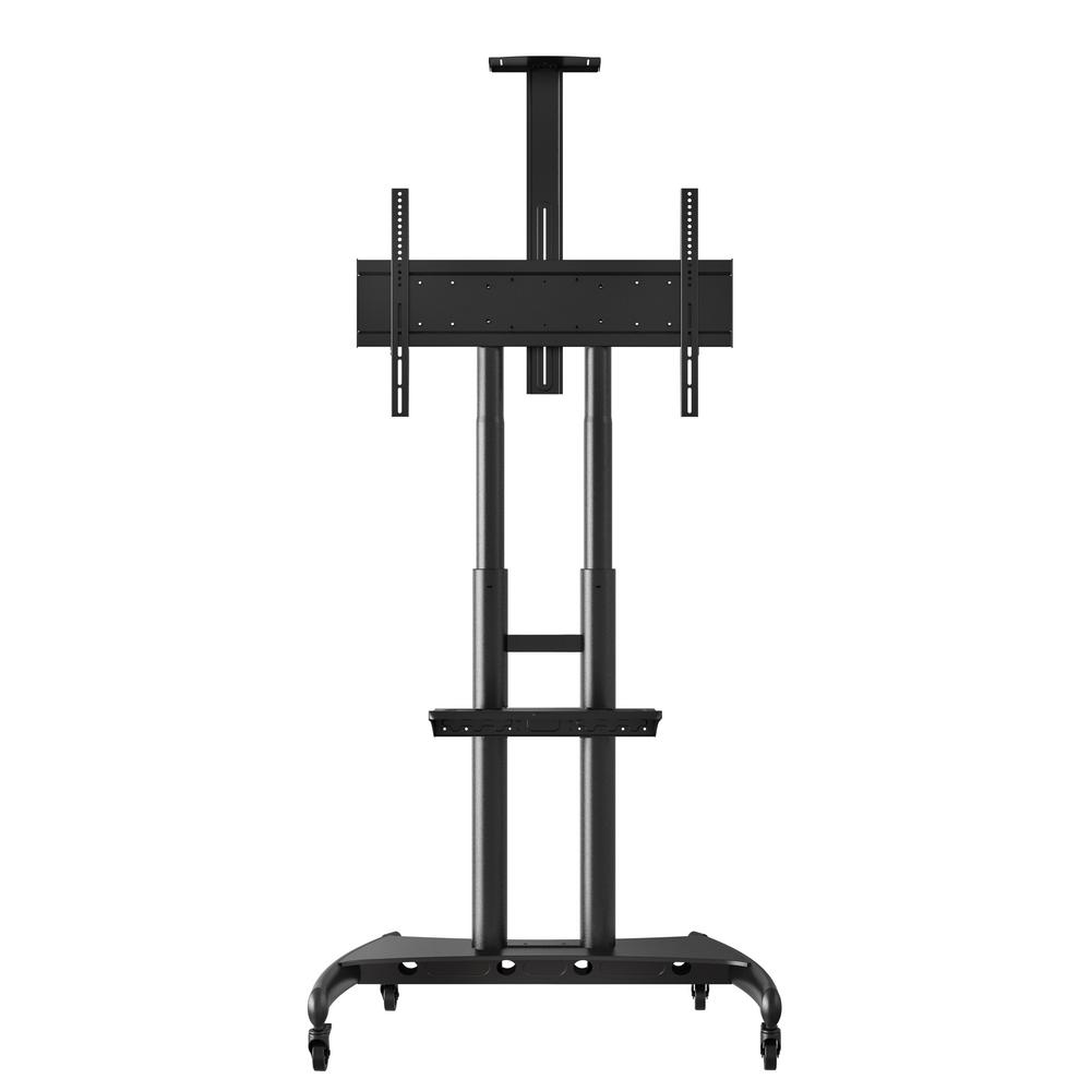 luxor Adjustable Height Large Capacity LCD TV Stand, Black