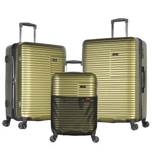 Olympia USA TAURUS 3-Piece PC/ ABS Expandable Hardcase Spinner Set with TSA Lock by Olympia USA