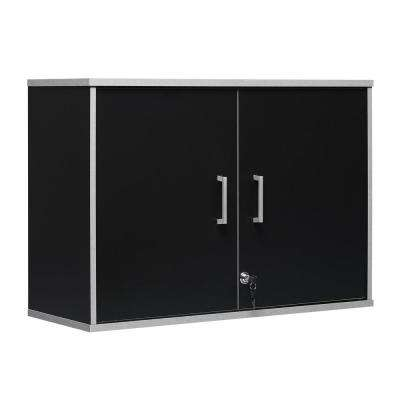 Anchor 21 in. H x 29 in. W x 11.75 in. D Wall Cabinet in Black (2-Shelves)