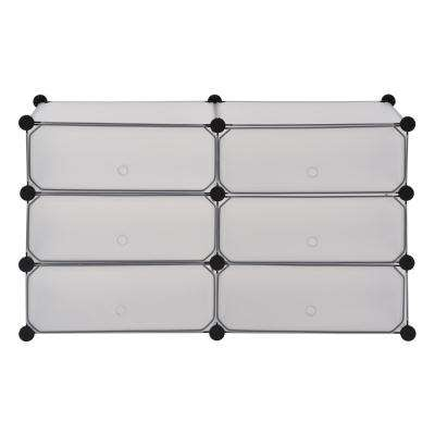 37.4 in. x 22.4 in. Clear 6-Cube Organizer