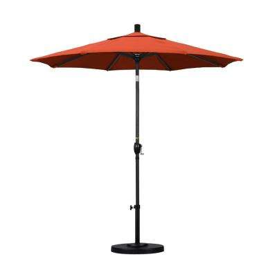 7-1/2 ft. Fiberglass Push Tilt Patio Umbrella in Sunset Olefin