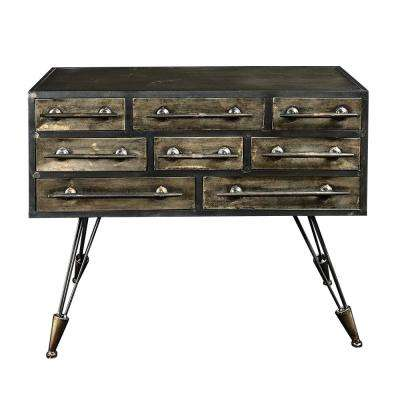 Cade Industrial Metal Console Table