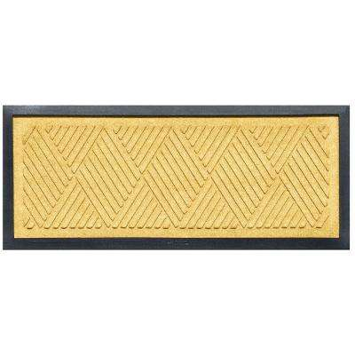 Yellow 15 in. x 36 in. Diamonds Boot Tray