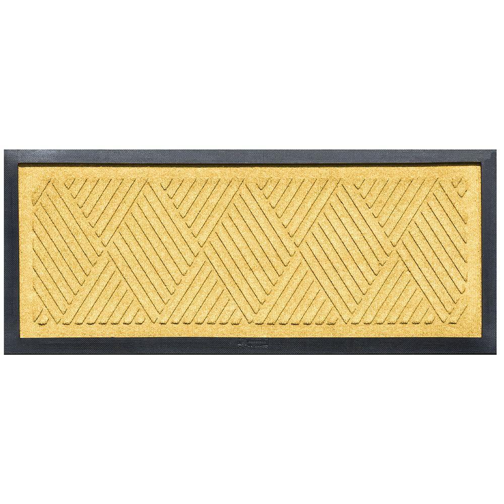 Yellow 15 in. x 36 in. Diamonds Boot Tray