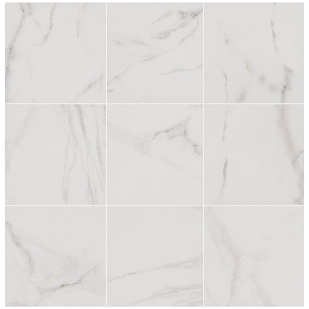 Florida Tile Home Collection Michelangelo White 12 in. x 12 in. Porcelain Floor and Wall Tile (14.33 sq. ft. / case)