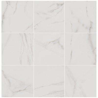 Michelangelo White 12 in. x 12 in. Porcelain Floor and Wall Tile (14.33 sq. ft. / case)