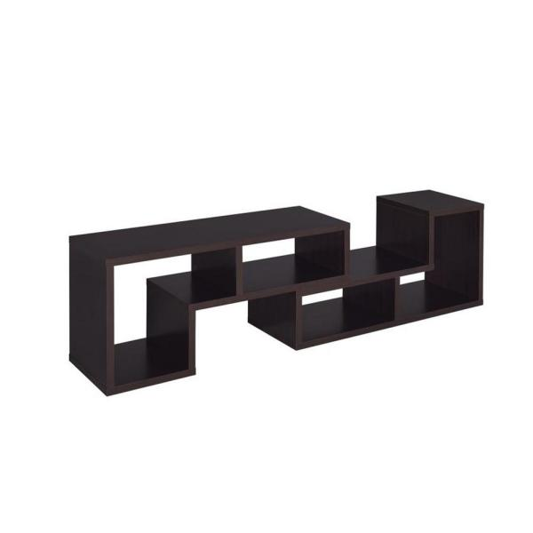 47 in. Cappuccino Composite TV Stand Fits TVs Up to 45 in. with Cable Management