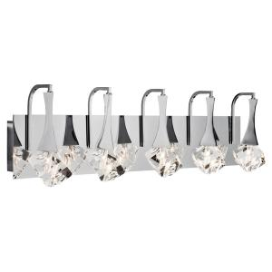 Access Lighting Bubbles 33 In 5 Light Chrome Vanity Light 23929 Ch Clr The Home Depot