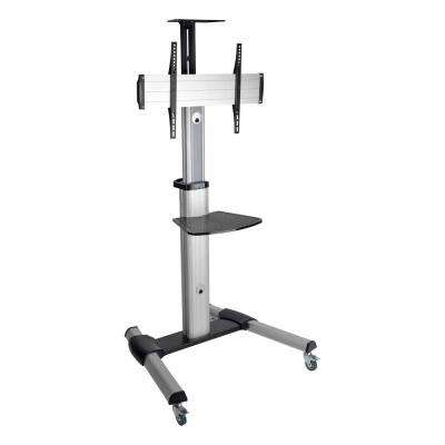 Mobile Flat-Panel Floor Stand for 32 in. to 70 in. TVs and Monitors, Silver