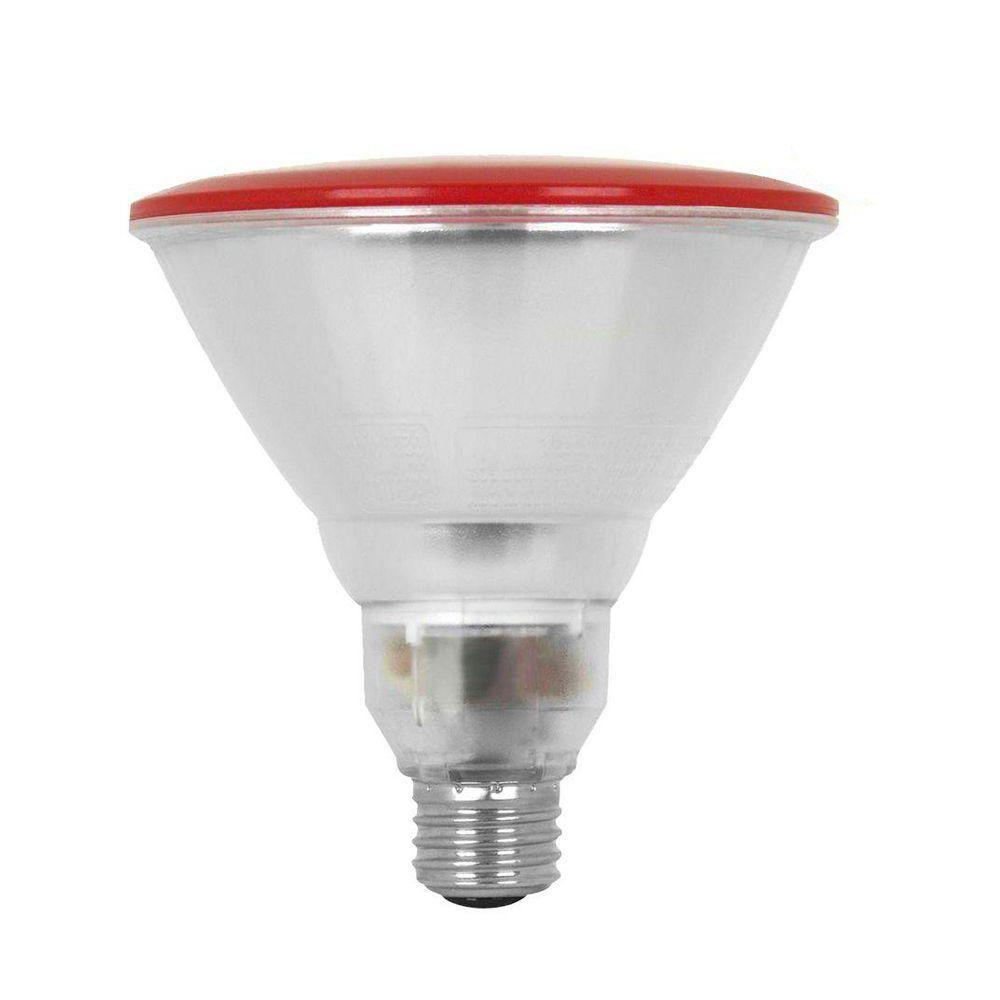 Feit Electric 100W Equivalent Red PAR38 CFL Flood Light Bulb (12-Pack)