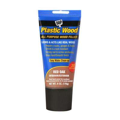 Plastic Wood 6 oz. Red Oak Latex Wood Filler (6-Pack)