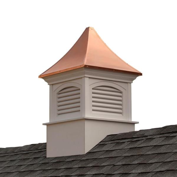 Southington 36 in. x 36 in. x 57 in. Vinyl Cupola with Copper Roof