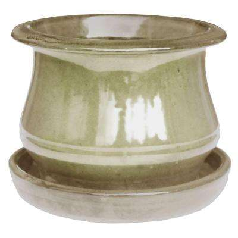 6.5 in. Beige Solid Bell Ceramic Planter