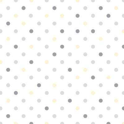 Grip Prints Dottie Gray, Yellow and White Floral Shelf and Drawer Liner (Set of 6)