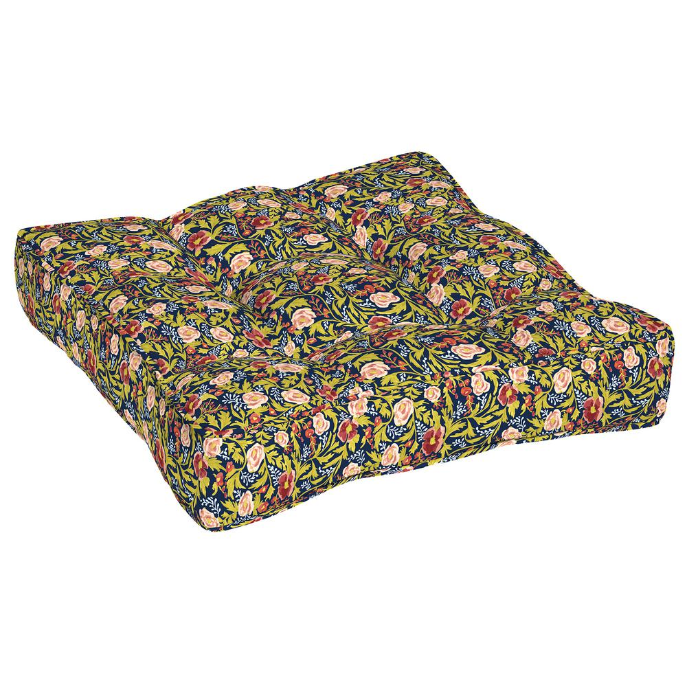 Artisans 25 in. x 25 in. Cecelia Floral Circle Sew Outdoor