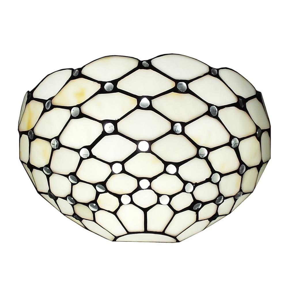 Amora Lighting Tiffany Style And White Wall Sconce Lamp