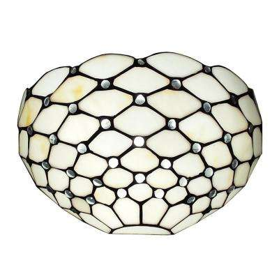 Tiffany Style and White Wall Sconce Lamp