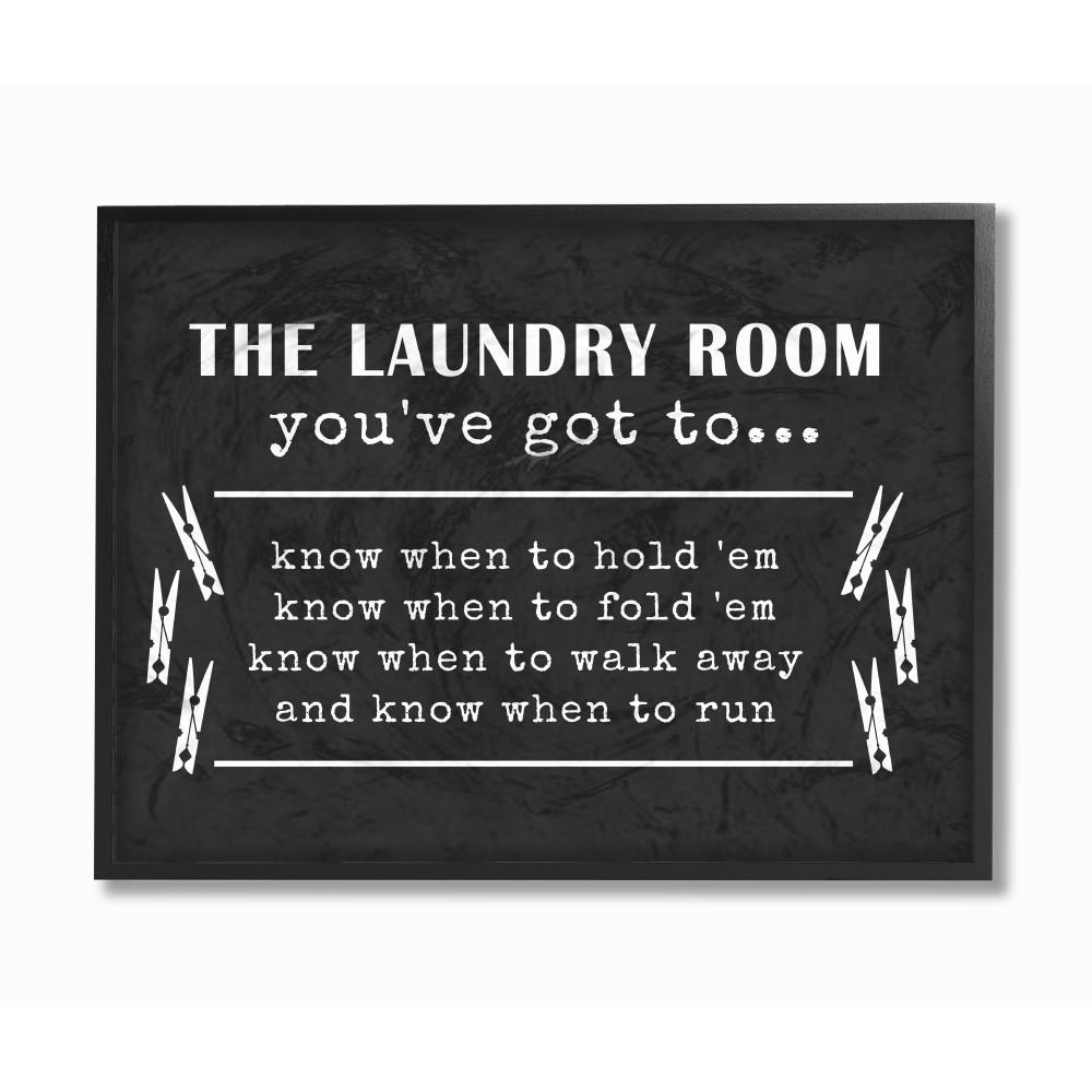 "11 in. x 14 in. ""Laundry Room You've Got To Know"""