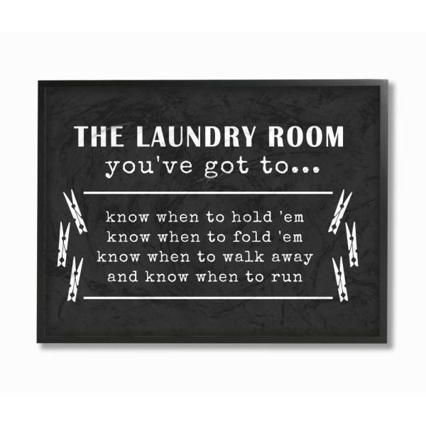 The Stupell Home Decor Collection 11 In X 14 Laundry Room You