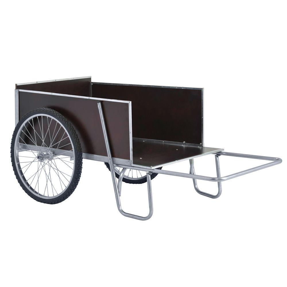 67 in. W 13.6 cu. ft. Steel Yard/Garden Cart