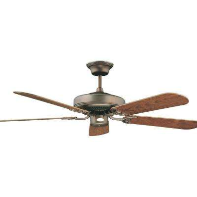 Desto 42 in. Oil Brushed Brass Ceiling Fan with 5 Blades