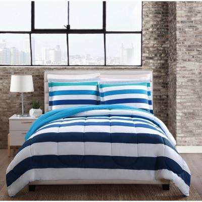 Montauk Stripe 3-Piece Multiple Full and Queen Comforter with 2 Shams