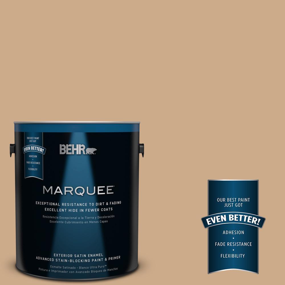 BEHR MARQUEE 1-gal. #N280-4 Perfect Tan Satin Enamel Exterior Paint
