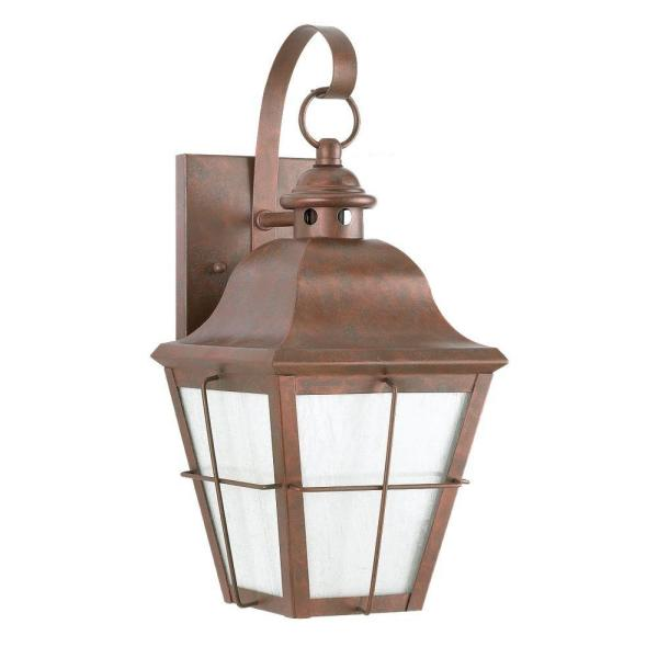 Chatham 1-Light Outdoor Weathered Copper Wall Lantern Sconce