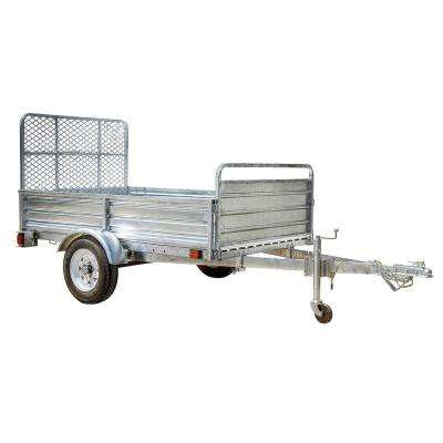 5.4 ft. x 7 ft. Single Axle Galvanized Utility Trailer Kit with Drive-Up Gate