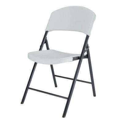 White Granite Light Commercial Folding Chair (4-Pack)