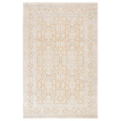 Machine Made Warm Sand 8 ft. x 10 ft. Oriental Area Rug