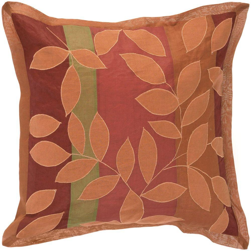 Artistic Weavers LeavesG1 18 in. x 18 in. Decorative Down Pillow-DISCONTINUED