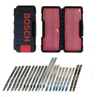 T-Shank Contractor Metal Jigsaw Blade Assortment with Brute Case for Cutting Wood and Metal (21-Piece)