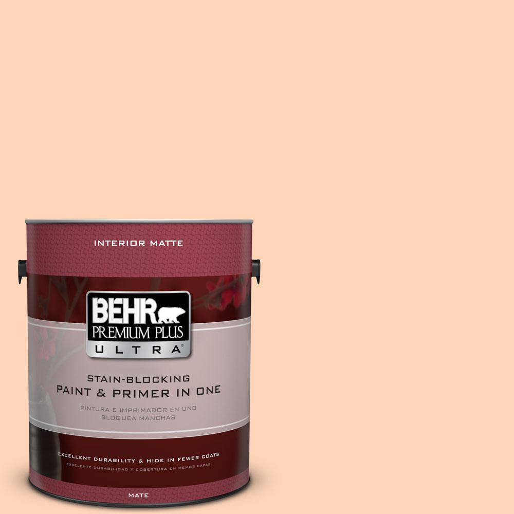 1 gal. #260A-3 Peach Beige Flat/Matte Interior Paint