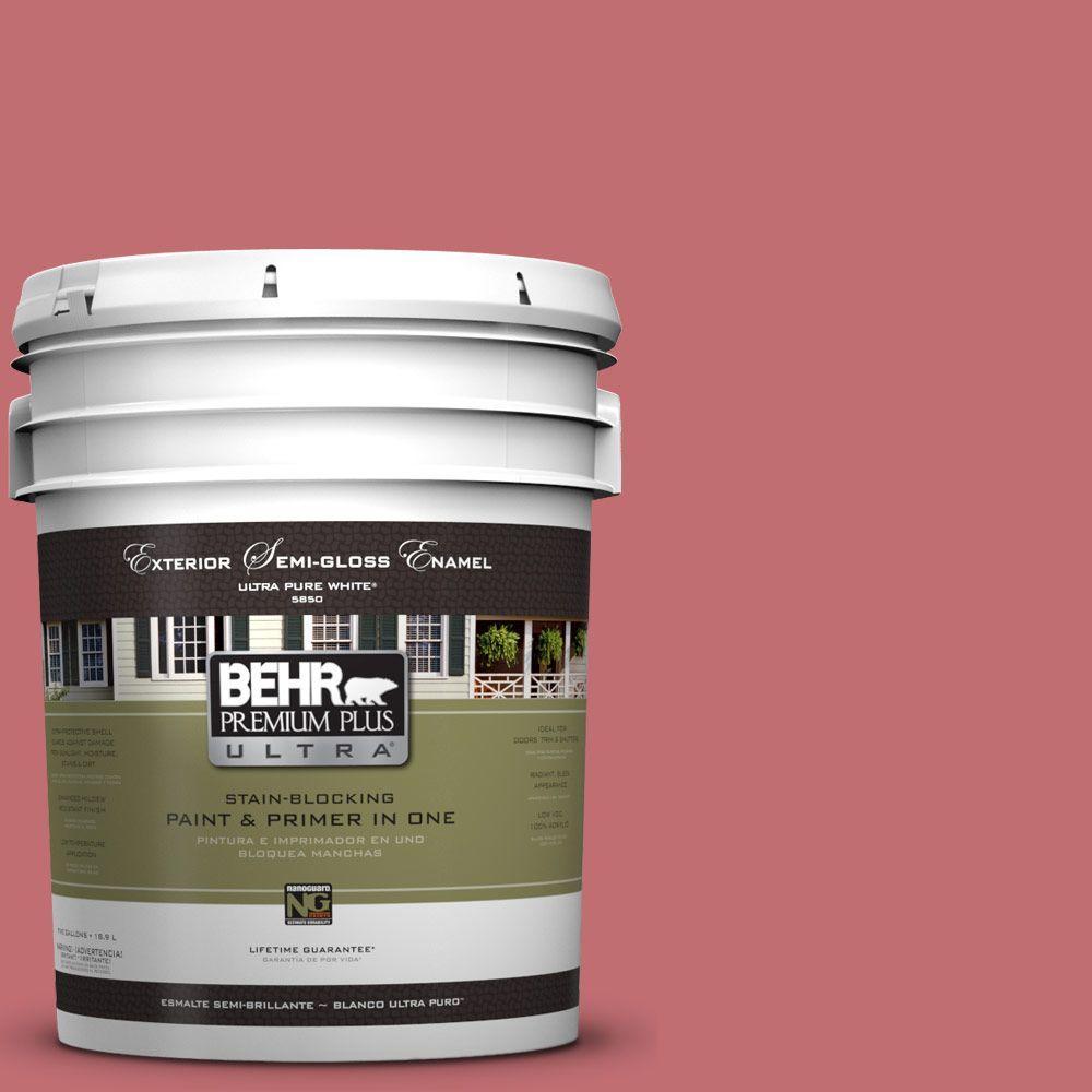 BEHR Premium Plus Ultra 5-gal. #HDC-SP14-8 Art House Pink Semi-Gloss ...