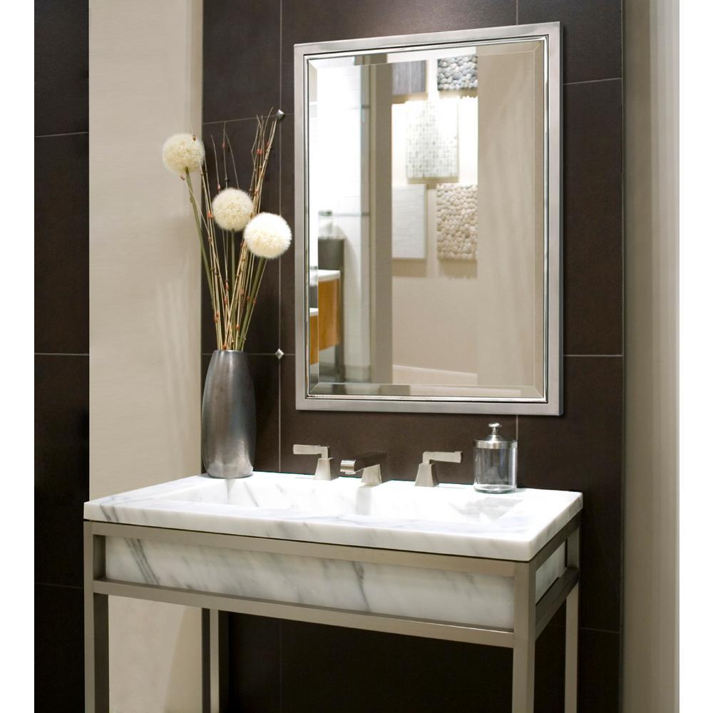 Deco Mirror 30 In W X 40 H Framed, 30 X 40 Framed Bathroom Mirror