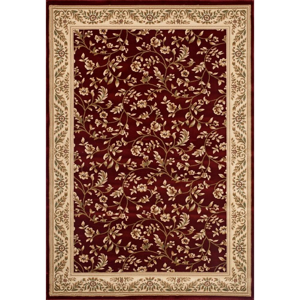 World Rug Gallery Manor House Red Fl 7 Ft 10 In X