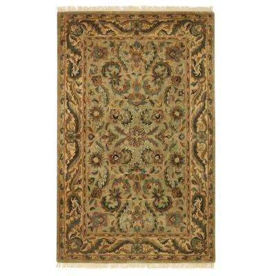 Chantilly Antique Green 3 ft. 6 in. x 5 ft. 6 in. Area Rug