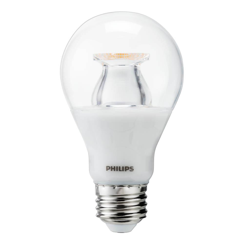 philips 60w equivalent soft white clear a19 led warm glow effect energy star light bulb 2 pack. Black Bedroom Furniture Sets. Home Design Ideas