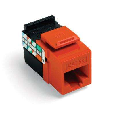 QuickPort GigaMax CAT 5e T568A/B Wiring Connector orange