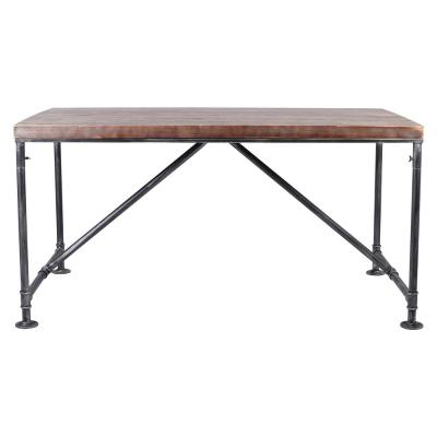 Dwyer Rustic Pine Wood Dining Table