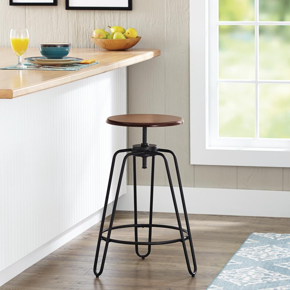 Magnificent Hairpin 24 In Black Adjustable Bar Stool Lamtechconsult Wood Chair Design Ideas Lamtechconsultcom
