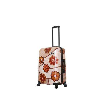 Ricci 24 in. Collage Flowers Spinner Suitcase