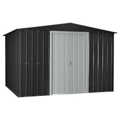 Gable 10 ft. x 8 ft. Slate Gray Metal Shed
