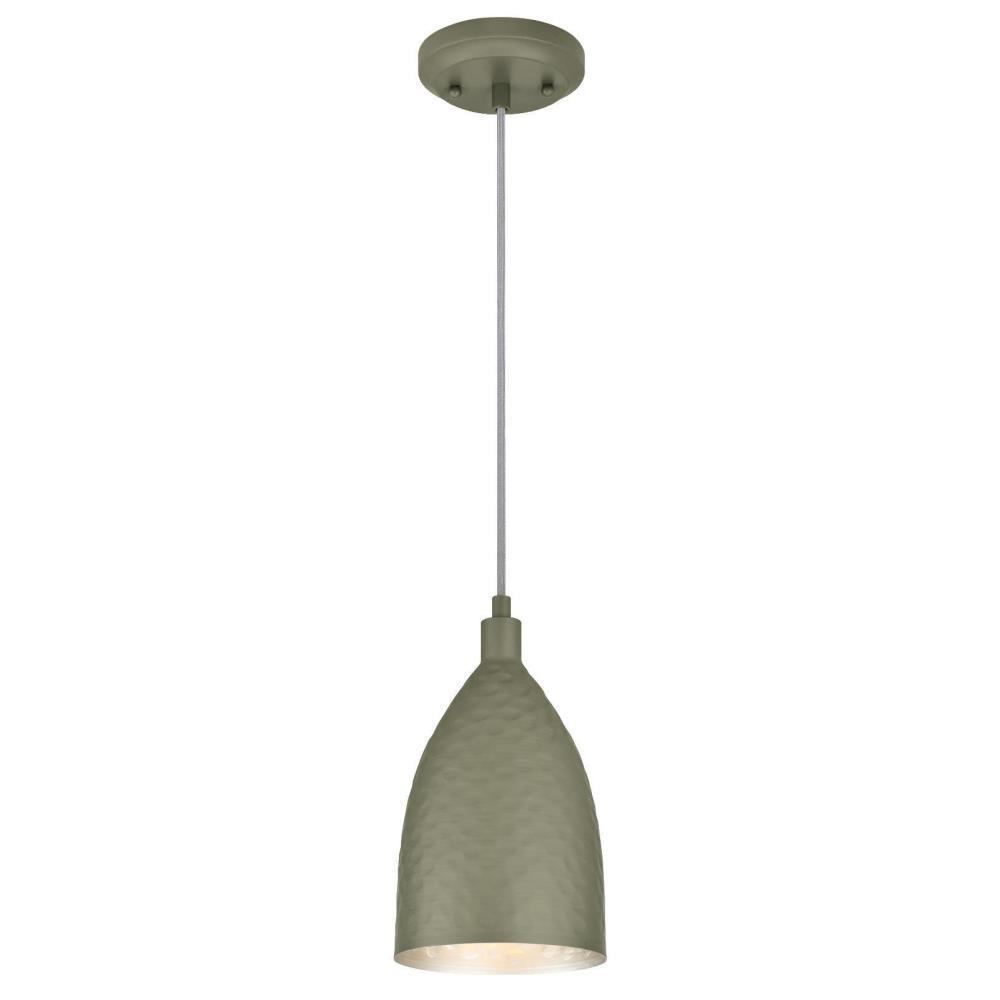 Westinghouse 1-Light Hammered Matte Grey Mini-Pendant
