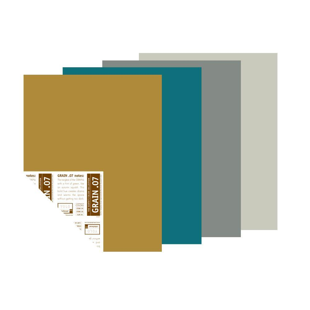 YOLO Colorhouse The Edge of Night Palette 12 in. x 16 in. Pre-Painted Big Chip Sample (4-Pack)-DISCONTINUED