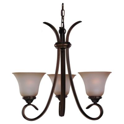 Rialto 3-Light Russet Bronze 1-Tier Chandelier