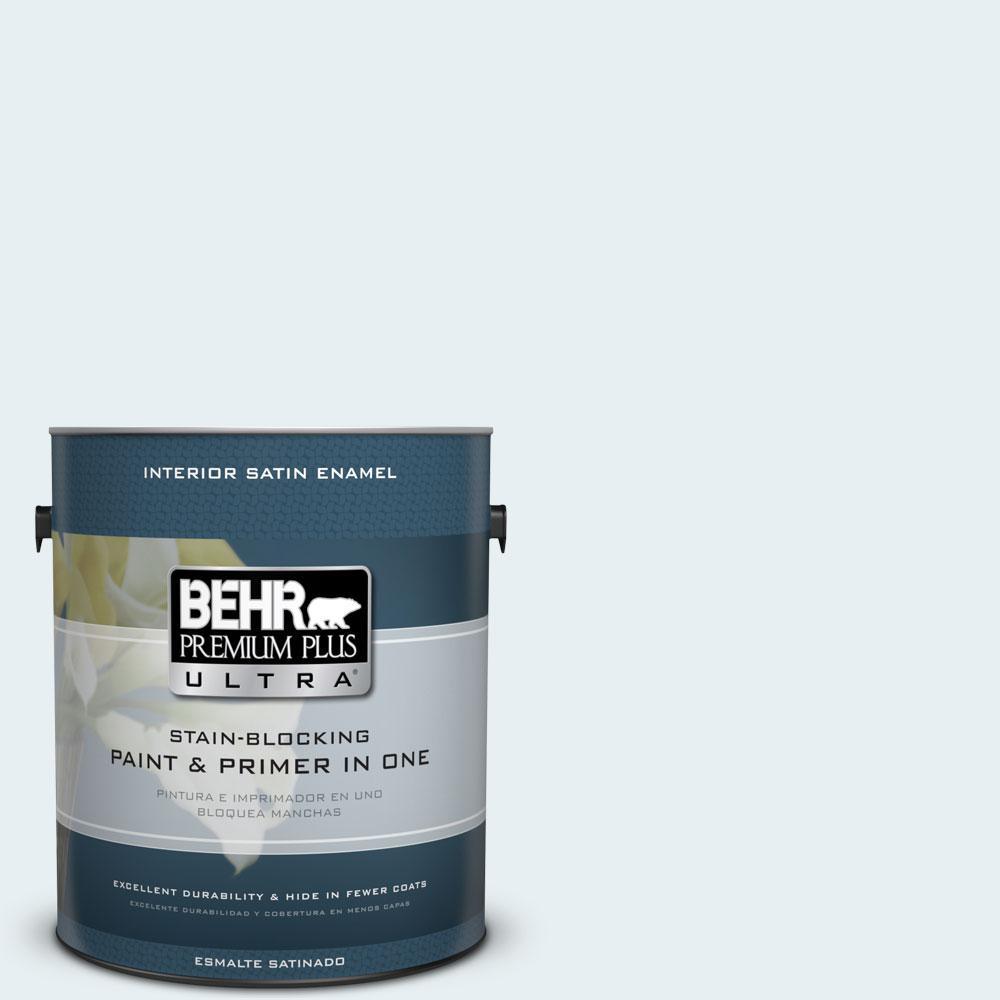 1 gal. #730E-1 Polar White Satin Enamel Interior Paint and Primer